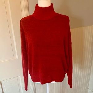Express dolman sleeve red sweater